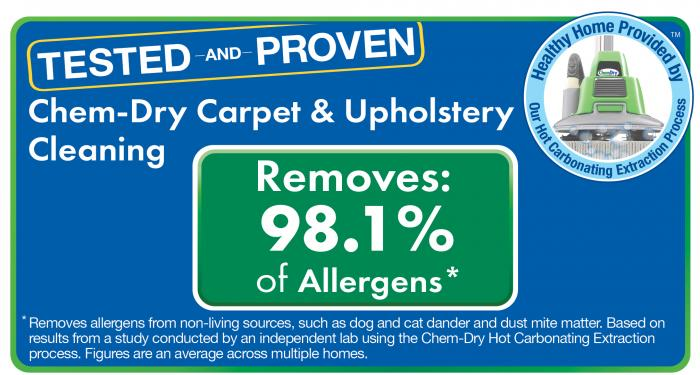Clean allergens and bacteria from area rugs