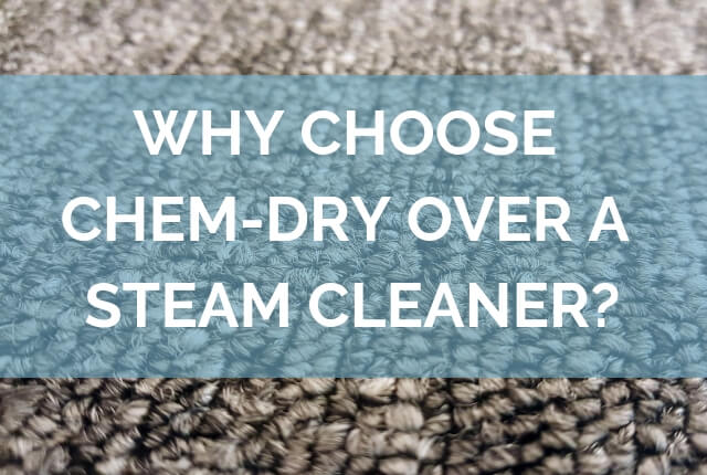 Why Choose Chem-Dry Over a Steam Cleaner?
