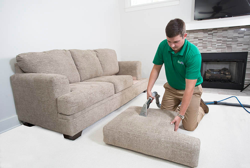 Chem-Dry upholstery cleaning technician in Edmonds, Wa
